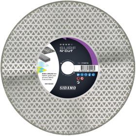 Disque Diamant et Carbure à segment 230 mm SURF N'CUT alésage 22,23 SIDAMO