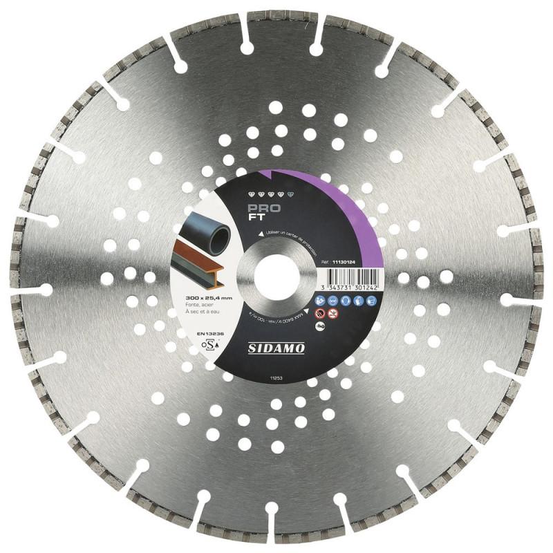 Disque Diamant et Carbure à segment PRO FT 300 mm Tronçonnage fonte SIDAMO