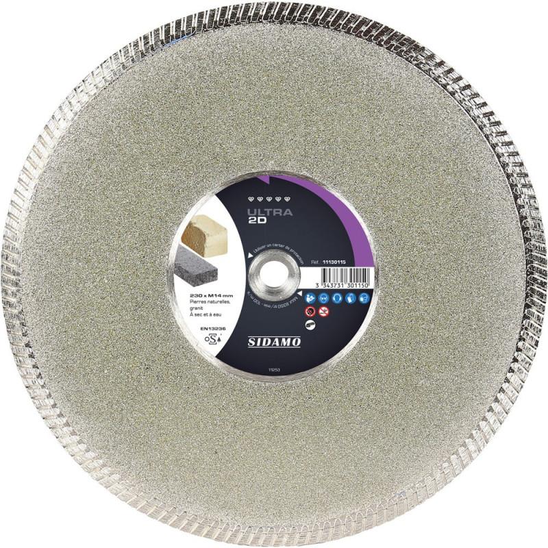Disque Diamant et Carbure à segment 230 mm  ULTRA 2D SIDAMO