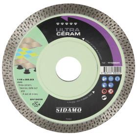 Disque Diamant et Carbure à coronne continue 115 mm ULTRA CERAM SIDAMO