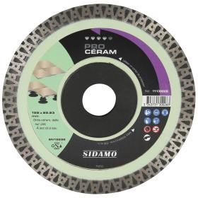 Disque Diamant et Carbure à couronne continue 125 mm PRO CERAM SIDAMO