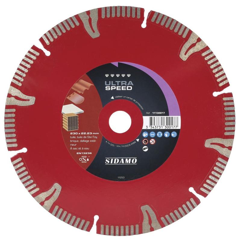 Disque Diamant à segment 230 mm ULTRA SPEED Sidamo