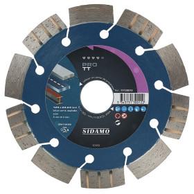 Disque Diamant à segment PRO TT 125 mm Tronçonnage béton/Asphalte/Acier SIDAMO