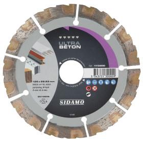 Disque Diamant à segment 125 mm ULTRA BETON Tronçonnage béton/Acier SIDAMO