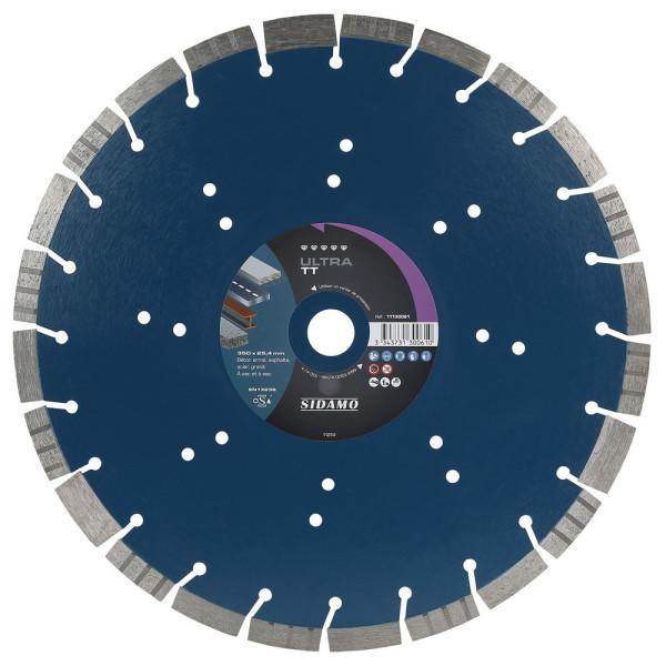 Disque Diamant à segment ULTRA TT 350 mm Tronçonnage béton/Asphalte/Acier/Granit SIDAMO