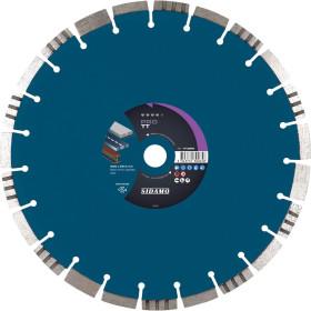 Disque Diamant à segment PRO TT 450 mm Tronçonnage béton/Asphalte/Acier SIDAMO