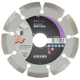 Disque Diamant à segment 115 mm STAR BETON Tronçonnage béton SIDAMO