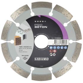 Disque Diamant à segment 125 mm PRO BETON Tronçonnage béton SIDAMO