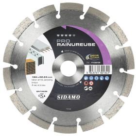 Disque Diamant à segment 180 mm PRO RAINUREUSE Tronçonnage béton SIDAMO