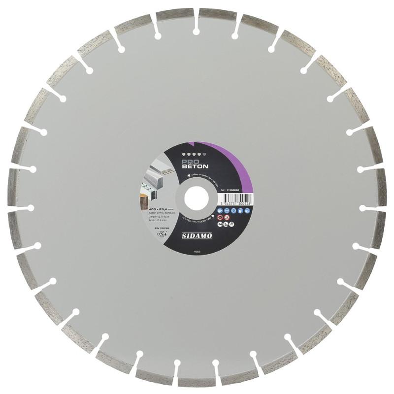 Grand Disque Diamant PRO BÉTON 400 mm  SIDAMO