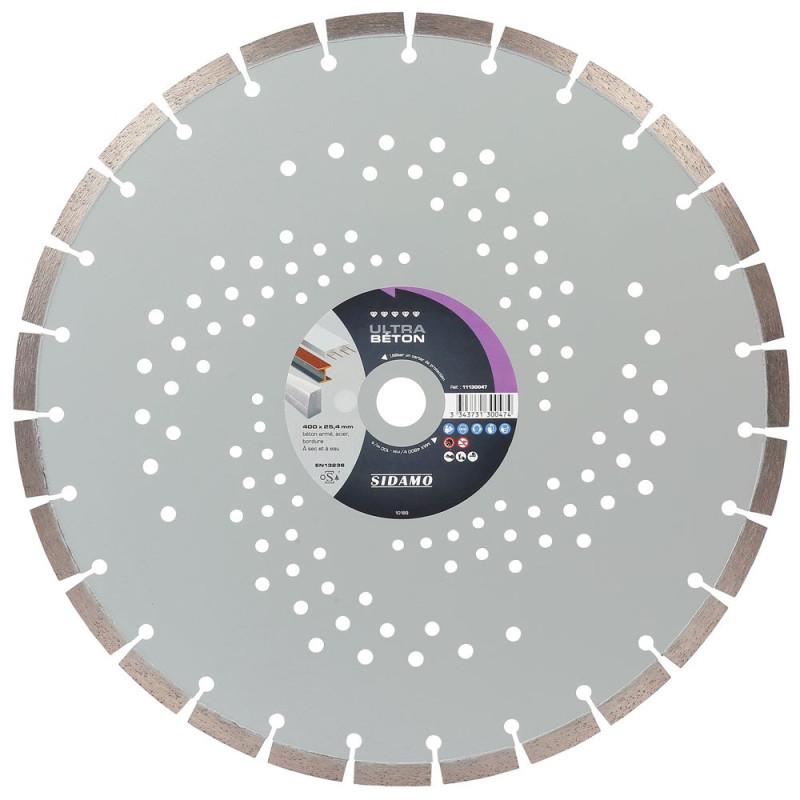 Disque diamant à segment D 400 mm ULTRA BETON SIDAMO