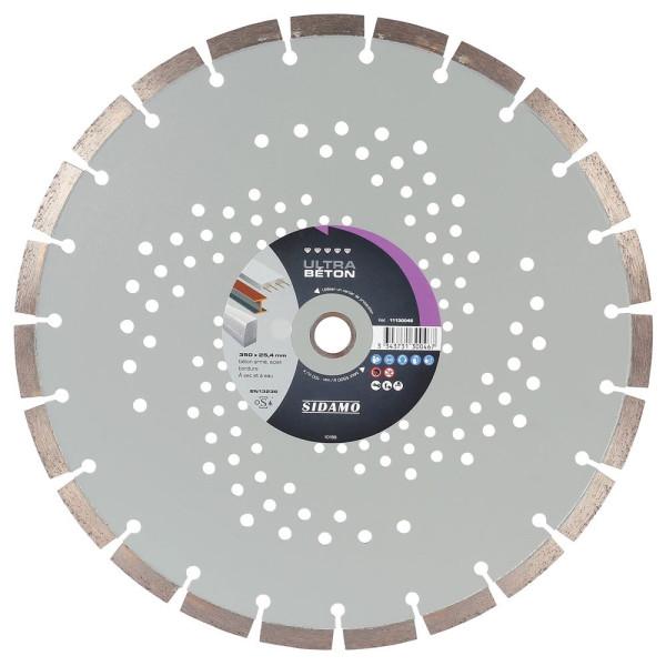 Disque diamant à segment D 350 mm ULTRA BETON SIDAMO