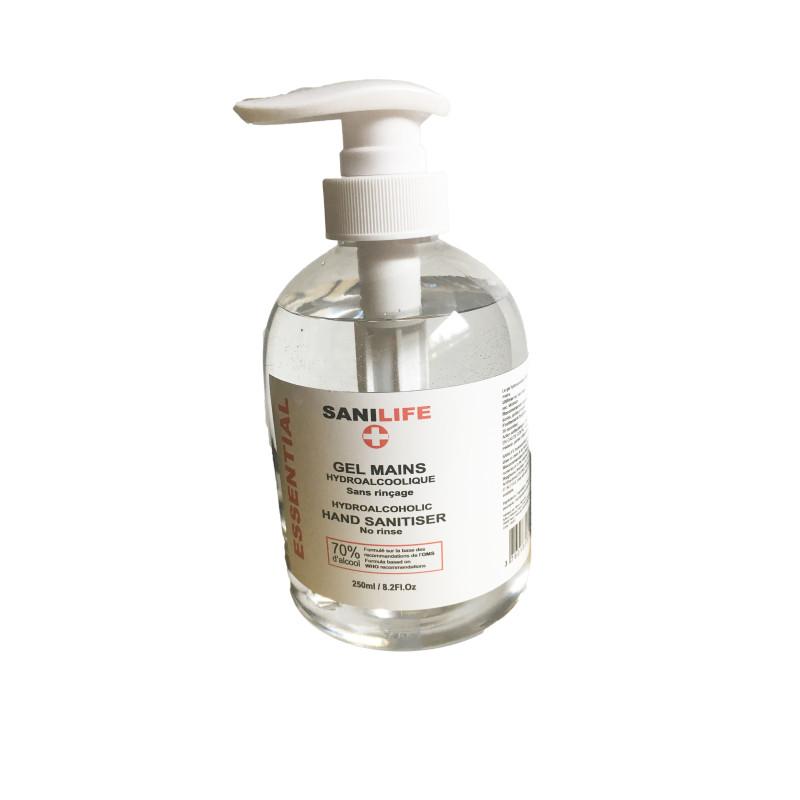 Flacon pompe gel hydroalcoolique 500 ml SANILIFE