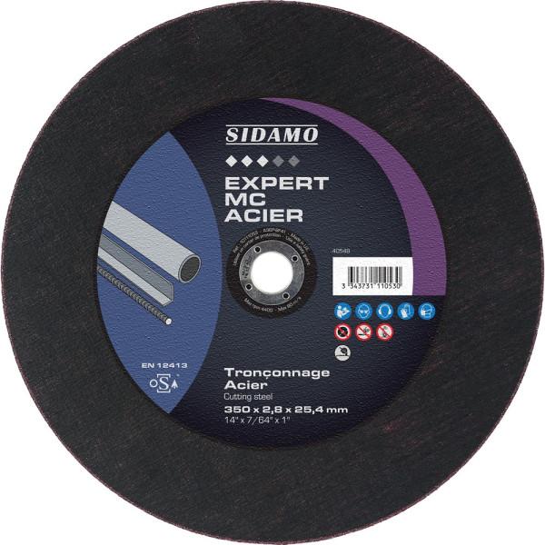 Boîte de 10 disques 350 mm Tronçonnage acier A 36 RBF 131 Sidamo