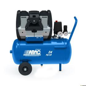 Compresseur d'air portable et silencieux sans huile 24L 2 Cv 9 Bar Série OS ABAC