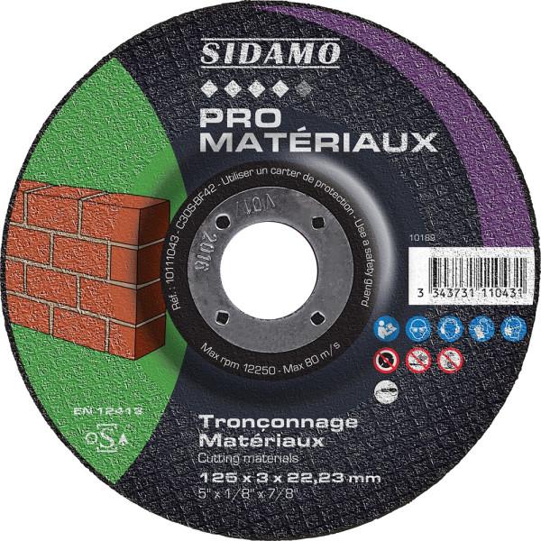 Lot de 25 disques à tronçonner pour machines électro-portatives SIDAMO