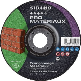 Lot de 25 disques d.230 mm à tronçonner pour machines électro-portatives SIDAMO