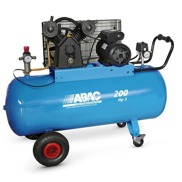 Compresseur d'air à piston 200L 3 Cv 9 Bar Série Line VCF ABAC