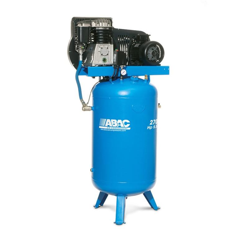 Compresseur d'air à piston vertical 270L 5.5 Cv 11 Bar Série Line ABAC