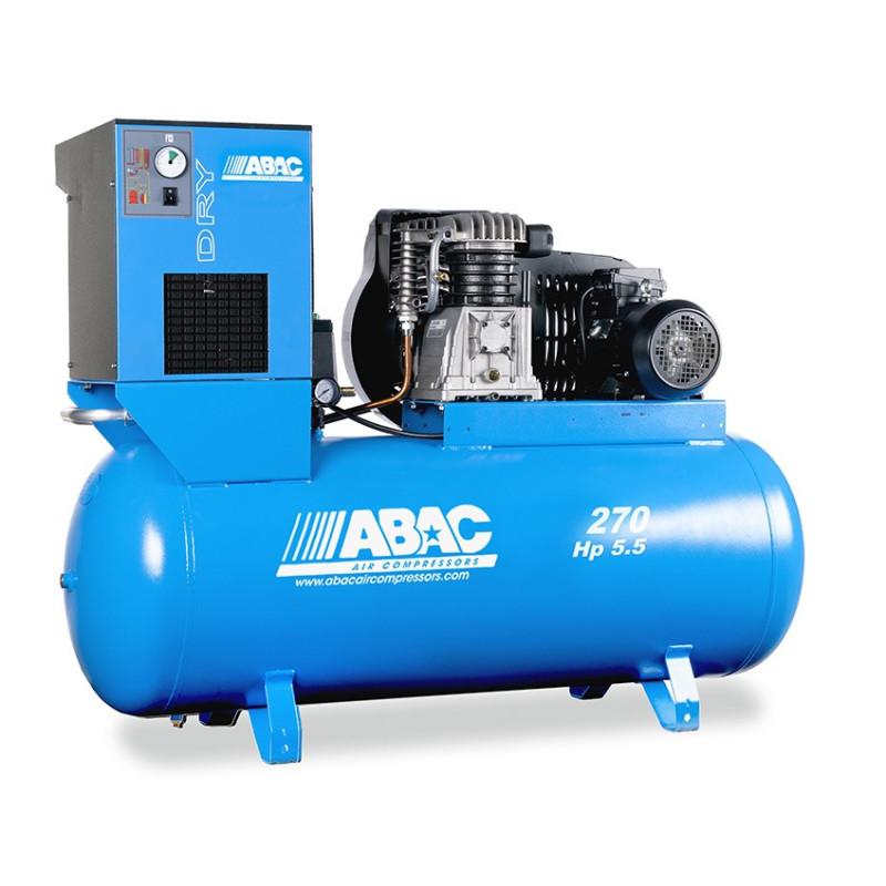 Compresseur d'air à piston avec sécheur 270L 5.5 Cv 11 Bar Série Line ABAC