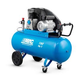 Compresseur d'air vitesse lente 150L 3 Cv 10 Bar Gamme Pro ABAC