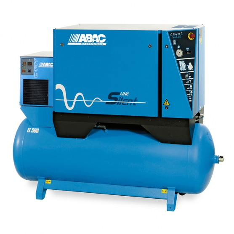 Compresseur d'air silencieux avec sécheur d'air 500L 5.5 Cv 10 Bar Gamme LN ABAC