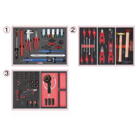 Composition d'outils spéciale roue pour servante, 60 pièces KS Tools