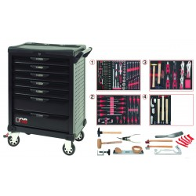 Servante One by One 7 tiroirs spéciale carrosserie 166 pièces KS Tools
