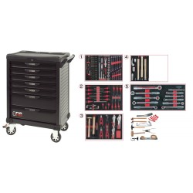 Servante One by One 7 tiroirs spéciale carrosserie 177 pièces KS Tools