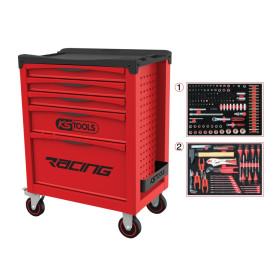 Servante RACING 5 tiroirs équipée de 184 outils KS Tools