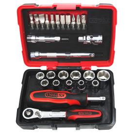 Coffret de douilles et accessoires ULTIMATE® 1/4'', 27 pièces KS Tools