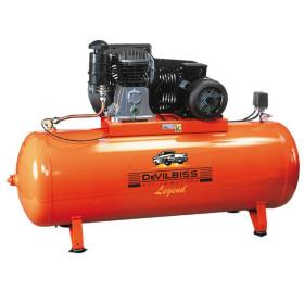 Compresseur d'air à piston 500L 7.5Cv 10 Bar 400V Tri Legend DevilBiss