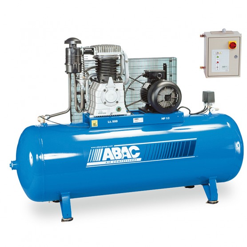 Compresseur d'air à piston 500L 10 Cv 15 Bar Série PRO ABAC