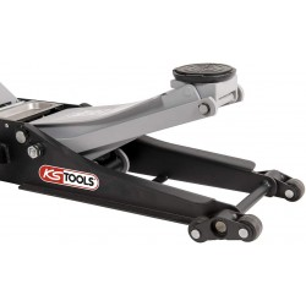 Cric acier 2 Tonnes extras-bas doubles roues avant KS TOOLS