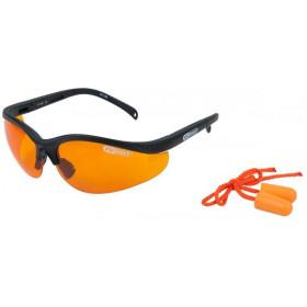 Lunettes de protection oranges avec bouchons d'oreille KS Tools