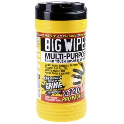 Tube de 120 lingettes Multi-Usage BIG WIPES