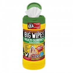 Tube de 120 lingettes Multi-surface BIG WIPES