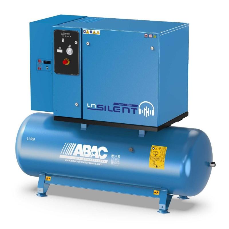 Compresseur d'air silencieux avec sécheur d'air 500L 10 Cv 11 Bar Gamme LN ABAC