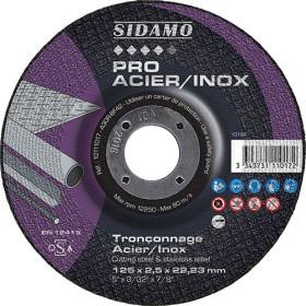 Boîte de 25 disques haut-de-gamme A30 2TX Tronçonnage Acier Inox SIDAMO