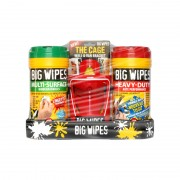 Ensemble tube 80x Haute Performance et tube 80x Multi-Surface avec Cage BIG WIPES
