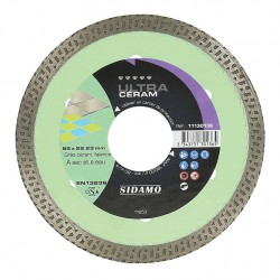 Disque Diamant et Carbure à couronne continue 85 mm ULTRA CERAM SIDAMO