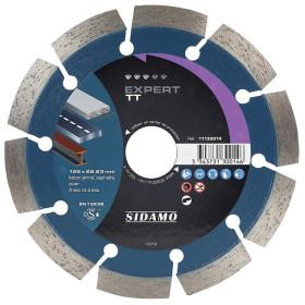 Disque Diamant à segment EXPERT TT 125 mm / Alésage 22.23 mm Tronçonnage béton/Asphalte/Acier SIDAMO