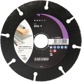 Disque diamant et carbure à segment 125 mm EXPERT 4 EN 1 SIDAMO