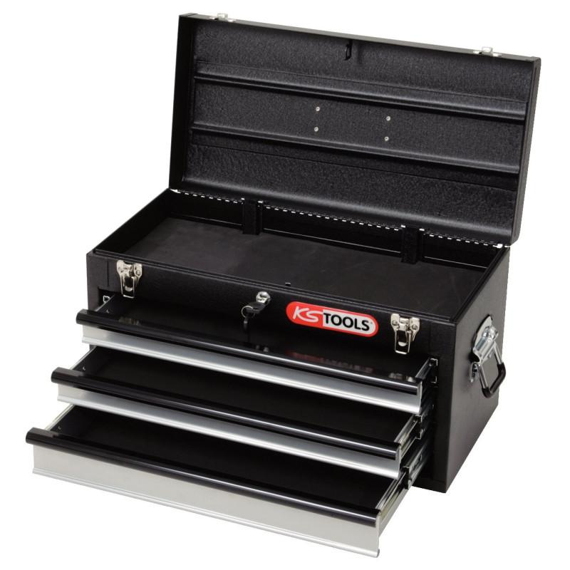 Coffret à outils 3 tiroirs avec compartiment supérieur KS TOOLS