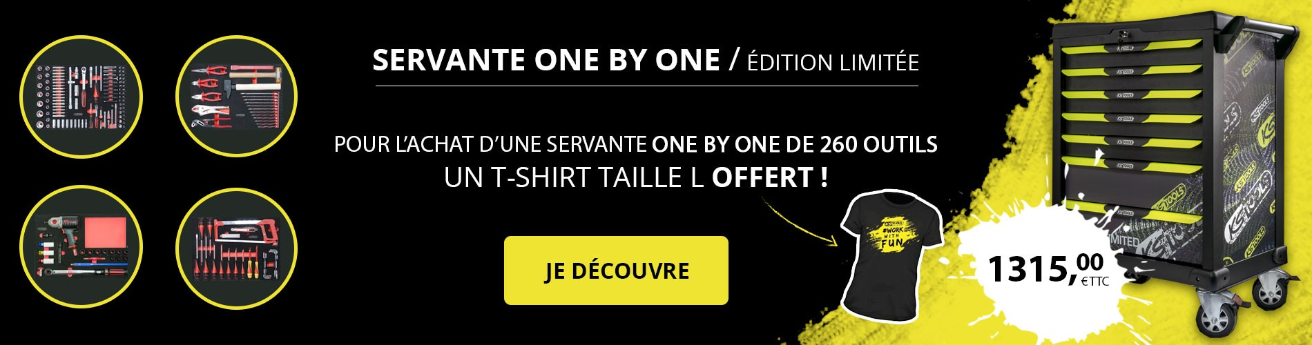 Servante one by one KS Tools complète 260 outils